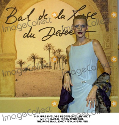 NADIA AUERMANN Photo - ImapressGlobe Photos Inc Ph  Nice Monte-carlo 24th March 2001 the Rose Ball 2001 Nadia Auermann
