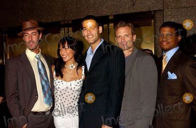 Aya Sumika Photo - 2004-2005 NBC Upfront Party at the NBC Studios Rockefeller Center New York City 05172004 Photo Ken Babolcsay  Ipol  Globe Photos Inc 2004 Hawaii Cast (Aya Sumika Eric Balfour Ivan Sergei Michael Biehn and Sharif Atkins)