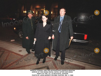 Andrew Morton Photo - 0599 Monica Lewinsky and Her Biographer Andrew Morton Arrive at the Rihga Royal Hotel After Her Book Party at the 21 Club in NYC Photo by John BarrettGlobe Photos Inc
