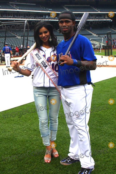 Jose Reyes Photo - Miss USA 2010 Rima Fakih attends Mets Batting Practice Citifield Queens New York 05-27-2010 Rima Fakih with Jose Reyes (ny-mets) Photo by Barry Talesnick-ipol-Globe Photos Inc 2010