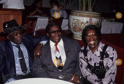 B B King Photo - John Lee Hooker with Bb King and Buddy Guy Benson Hedges Blues Festival Press Conference 1991 L1844 Photo by John Barrett-Globe Photos Inc
