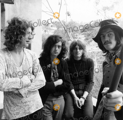 John Bonham Photo - Led Zeppelin at Chateau Marmont 1969 Jimmy Page Robert Plant John Paul Jones and John Bonham Photo by Jay Thompson-Globe Photos