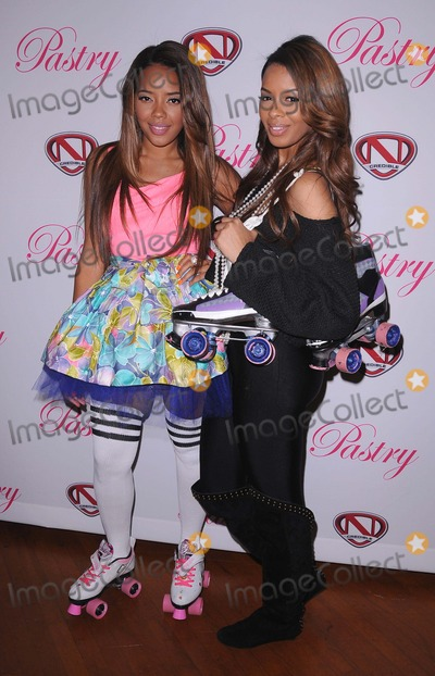 Angela Simmons Photo - Launch Party of Pastry Lite Shoe Collection at the Moonlight Rollerway in Glendale CA 12911 Photo by Scott Kirkland-Globe Photos   2011 Angela Simmons and Vanessa Simmons