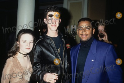 Alfonso Ribiero Photo - Dustin Diamond with Jenna Von Oy and Alfonso Ribiero 1994 L7338lr Photo by Lisa Rose-Globe Photos Inc