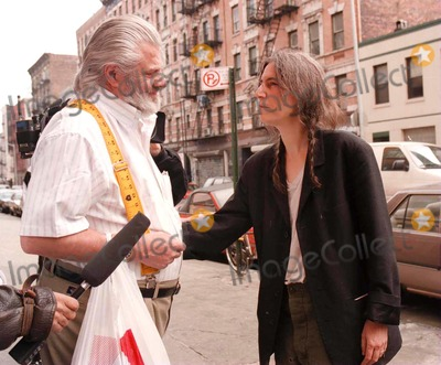 Allen Ginsberg Photo - Patti Smith Leaves Allen Ginsbergs Apartment and Stops to Speak with Ginsbergs Longtime Companion and Wife Peter Orlovsay Credit Jennifer WeisbrodGlobe Photos Inc