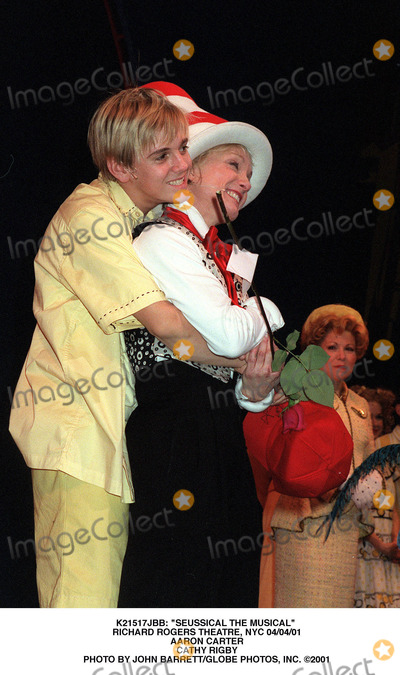 Cathy Rigby Photo -  Seussical the Musical Richard Rogers Theatre NYC 040401 Aaron Carter Cathy Rigby Photo by John BarrettGlobe Photos Inc