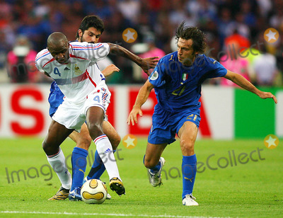 Andrea Pirlo Photo - Gennaro Gattuso Patrick Vieira  Andrea Pirlo  Italy V France Gattuso Vieira  Pirlo Italy V France Olympic Stadium Berlin Germany 07-09-2006 K48556 Photo by Allstar-Globe Photos