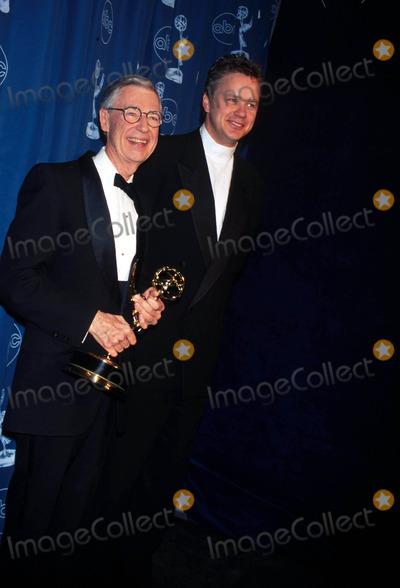 Mr Rogers Photo - 24th Annual Emmy Awards 052196 Fred Rogers (Mr Rogers) Photo by Walter WeissmanGlobe Photos Inc 1996 Fredrogersretro