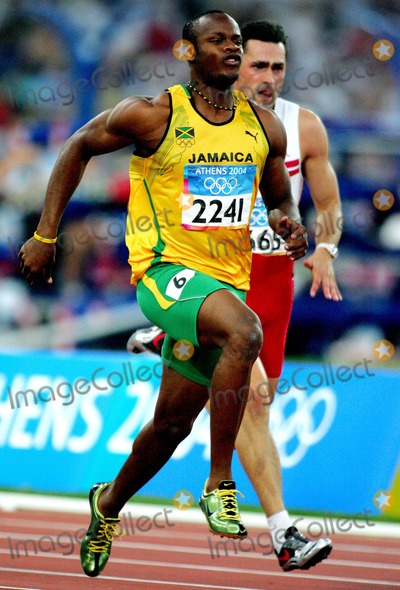 Asafa Powell Photo - Asafa Powell Jamaica Mens 100m Athens Greece Di2544 8222004 Athens 2004 Olympic Games Photo ByallstarGlobe Photos Inc 2004