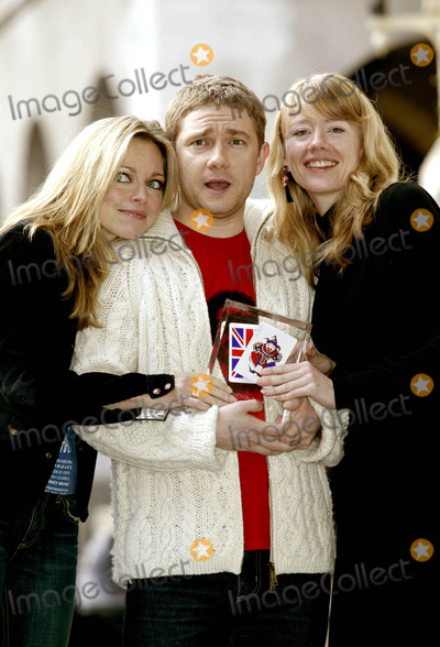 Alexander Martin Photo - Sarah Alexander(coupling) Martin Freeman (the Office)and Tamzin Malleson (Teachers) British Comedy Awards Nominations -Savoy Hotel London 11122003 Photo Bysally SmdleyglobelinkukGlobe Photos Inc 2003