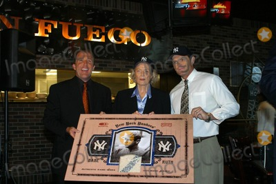 Babe Ruth Photo - Donruss Trading Cards to Unveil Plans For the 1925 Game Worn Babe Ruth Jersey New York City 10202003 Photo by Rick MacklerrangefindersGlobe Photos Inc Bill Dully Babe Ruths Daughter Julia Turh Stevens and Babe Ruths Grandson