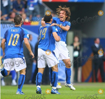 Andrea Pirlo Photo - Italy V Ukraine Aol Arena Hamburg Germany 06-30-2006 Photo by Stewart Kendall-allstar-Globe Photos Inc 2006 Gianluca Zambrotta  Andrea Pirlo