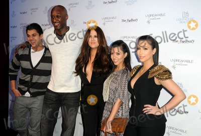 Rob- Kardashian Photo - Rob Kardashian Lamar Odem Kim Kardashian Khloe Kardashian and Kourtney Kardashian Attending Khloe Kardashian Odom And Lamar Odom Fragrance Launch For Unbreakable Held at the Redbury Hotel In Hollywood California On 4411Photos By D LONG- Globe Photos Inc  2011