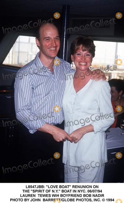 Lauren Tewes Photo -  Love Boat Renunion on the Spirit of NY Boat in NYC 060794 Lauren Tewes Wih Boyfriend Bob Nadir Photo by John BarrettGlobe Photos Inc