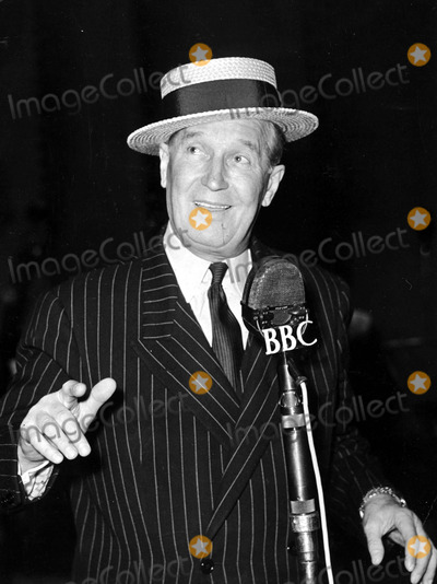 Maurice Chevalier Photo - Maurice Chevalier at the Recording Studio For a Radio Broadcast 04251955 Photo by Globe Photos