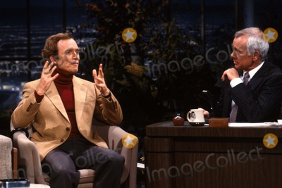 Johnny Carson Photo - Johnny Carson with Dick Cavert at the Tonight Show 1982 12350 Photo by Allan S Adler-ipol-Globe Photos Inc