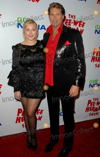 Pee-wee Herman Photo - David Hasselhoff Hayley Hasselhoff attends Opening Night Red Carpet of the pee-wee Herman Show Held at the Nokia Theatre in Los Angeles CA 01-20-10 Photo by D Long- Globe Photos Inc 2009
