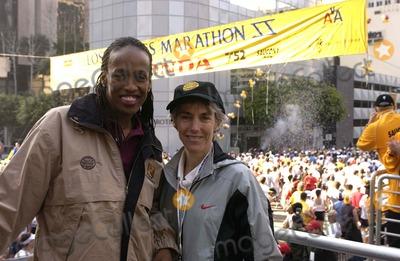 Jackie Joyner-Kersee Photo - The City of Los Angeles Marathon 20th Anniversary March 6 2005 in Los Angeles Runner Jackie Joyner Kersee  and Joanie Samuelson-benoit Photo by Valerie Goodloe-Globe Photos Inc 2005