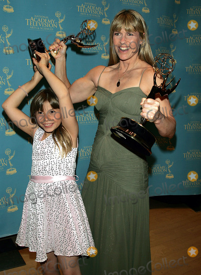 Bindi Irwin Photo - Terri and Bindi Irwin hold the Emmy award that Bindi won (the award on the left) for her show Bindi the Jungle Girl at the Creative Arts  Entertainment Emmy Awards at Rose Hall at Time Warner Center in New York on June 13 2008Photo by Terry GatanisGlobe Photos Inc  K58622TGA