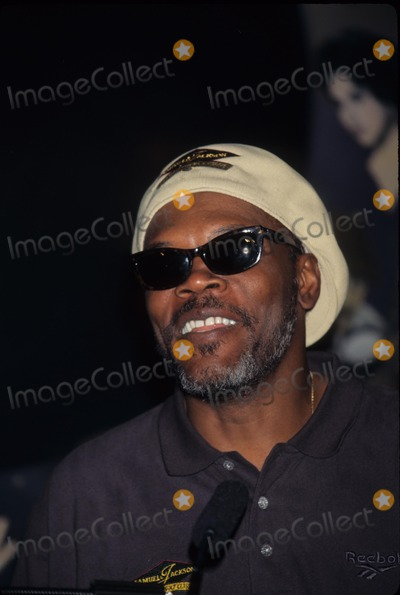 Samuel Jackson Photo - Samuel Jackson at Planet Hollywood in New York to Announce His Celebrity Golf Tournament to Be Held on Bermuda 1997 K7731ww Photo by Walter Weissman-Globe Photos Inc