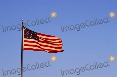 American Flag Photo - Sign in Round Rock Texas 07282001 Photo by Jeff NewmanGlobe Photos Inc American Flag
