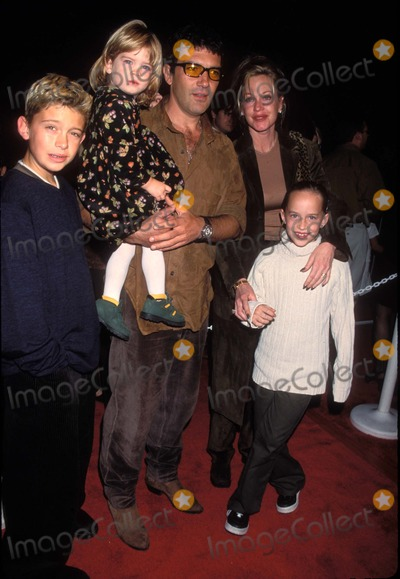 Melanie Griffith Photo - 201998 the Lion King 2 Premiere Antonio Banderas and Melanie Griffith with Daughter Stella Her Daughter Adakata and Son Dylan Photo by Lisa RoseGlobe Photos Inc K13743lr