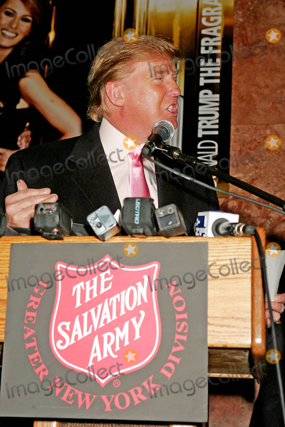 The Radio City Rockettes Photo - Donald Trump and the Radio City Rockettes Hold Press Conference to Help the Salvation Army Campaign For Volunteers and Donations Trump Tower New York City 11-23-2004 Photo Rick MacklerrangefindersGlobe Photos Inc