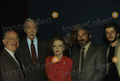 Jimmy Stewart Photo - Jimmy Stewart with George Schaefer Bette Davis Merrill Karpf and Richard Lees E6634 Photo by Bob V Noble-Globe Photos Inc