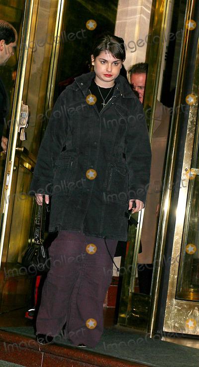 Aimee Osbourne Photo - Sd1126 Osbourne Family Leaving Hotel in New York City to Attend a Show by Kelly Osbourne at the Irvington Plaza Photo Byjohn BarrettGlobe Photos Inc 2002 Aimee Osbourne