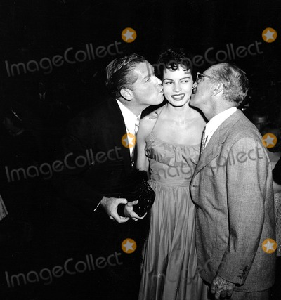 Milton Berle Photo - -10a Milton Berle with Groucho Marx and Unidentified Woman Supplied by Globe Photos Inc