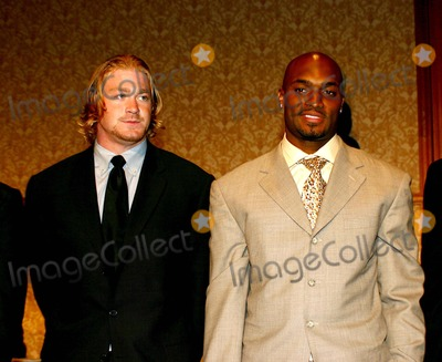 Amani Toomer Photo - New York Giants 80th Season Kick Off Lunceon at the Sheridan NY Hotel in New York City 912004 Photo Bywilliam ReganGlobe Photos Inc 2004 Jeremy Shockey and Amani Toomer