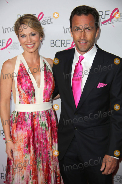 Andrew Shue Photo - The Breast Cancer Research Foundations Annual Hot Pink Party 2015 the Waldorf Astoria NYC April 30 2015 Photos by Sonia Moskowitz Globe Photos Inc 2015 Amy Robach Andrew Shue