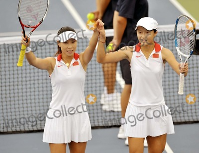 Alona Bondarenko Photo - Aug 17 2008 Beijing China Chinas Zheng Jie and Yan Zi 20 Ukraines Alona Bondarenko and Kateryna Bondarenko in the Womens Doubles Bronze Medal Match During the Beijing Olympic Games Beijing 2008 Olympics Photo by Top Photo-Globe Photos Inc