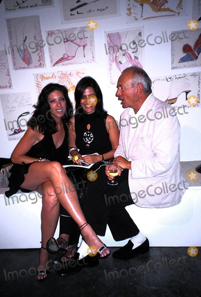 Arthur Elgort Photo - Manolo Blahnik Exhibition Launch Party at the Phillips Gallery  New York City 09092003 Photo Rose Hartman Globe Photos Inc 2003 Janice Savitt and Arthur Elgort