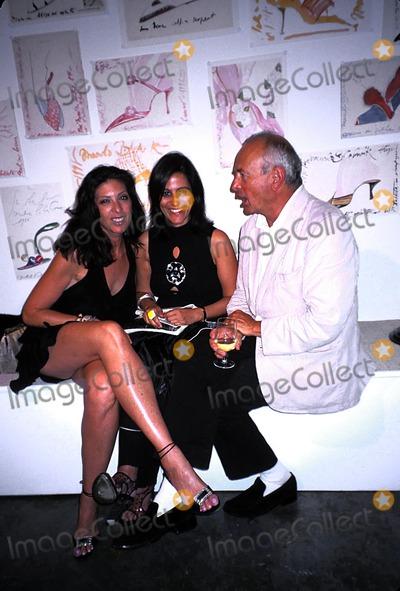 Arthur Elgort Photo - Manolo Blahnik Exhibition Launch Party at the Phillips Gallery  New York City 09092003 Photo Rose Hartman Globe Photos Inc 2003 Janice Savitt and Arthur Elgort