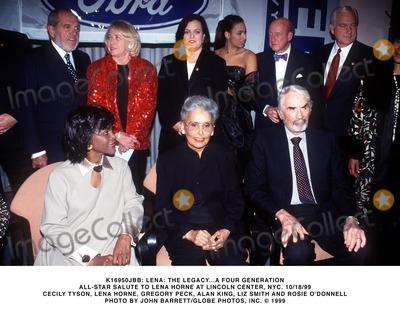Lena Horne Photo -  Lena the Legacy a Four Generation All Star Salute to Lena Horne at Lincoln Center NYC 10181999 Cecily Tysonlena Hornegregory Peckalan Kingliz Smith and Rosie Odonnell Photo by John BarrettGlobe Photosinc