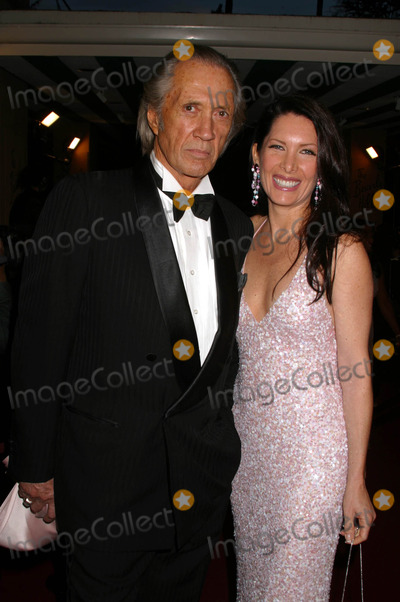 Annie Bierman Photo - Night of 100 Stars Oscar Gala 2004 at the Beverly Hills Hotel Beverly Hills CA 02292004 Photo by Clinton H WallaceipolGlobe Photos Inc2004 David Carradine and Annie Bierman