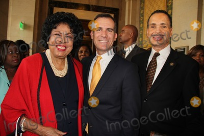Jarvee Hutcherson Photo - Mayor Eric Garcetti and the City of Los Angeles Host African American Heritage Month Celebration City Hall Los Angeles CA 02112014 Diane Watson Eric Garcetti and Jarvee Hutcherson Clinton H WallaceGlobe Photos Inc