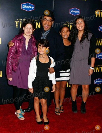 Giancarlo Esposito Photo - Giancarlo Esposito and Family Arrive For the the Adventures of Tintin Premiere at the Ziegfeld Theatre in New York on December 11 2011 Photo by Sharon NeetlesGlobe Photos Inc