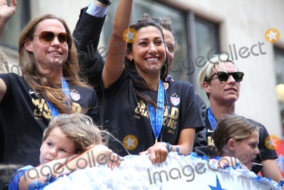 Abby Wambach Photo - Hope Solo Abby Wambach at Ticker Tape Parade For the World Cup Champions Us Womens Soccer National Team Canyon of Heroes NYC July 10 2015 Photos by Sonia Moskowitz Globe Photos Inc