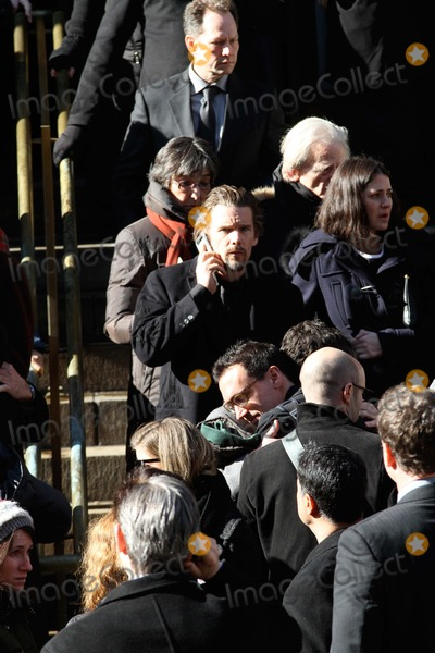 Phillip Seymour Hoffman Photo - Phillip Seymour Hoffman Funeral at St Ignatius Loyola Church in Manhattan Bruce Cotler 2014 Ethan Hawke