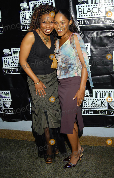 Monica Calhoun Photo - Hollywood Black Film Festival Harmony Gold Theater Hollywood CA 06032003 Photo by Jonathan Friolo  Globe Photos Inc 2003 Cece Michaela and Monica Calhoun