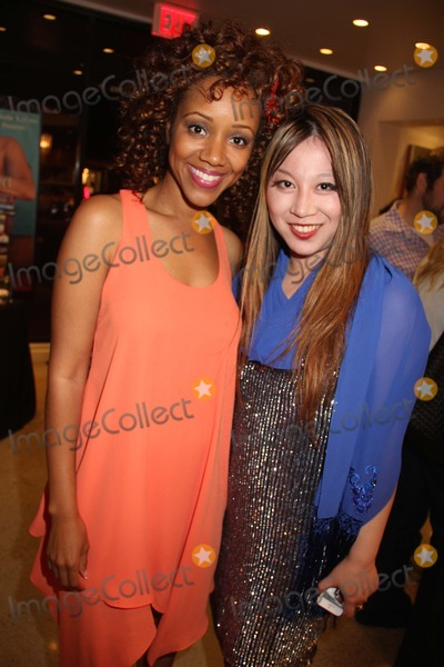 Alice Aoki Photo - Natasha Mccreas Evolution of a Love Addict Book Launch Cocktail Party Hosted by Chrystee Pharris Nicole Miller Store West Hollywood CA 10222014 Chrystee Pharris and Alice Aoki Clinton H WallaceGlobe Photos Inc