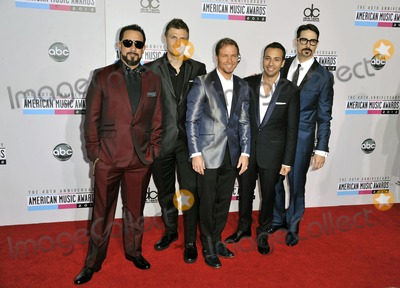 AJ MCLEAN Photo - Aj Mclean Nick Carter Brian Littrell Howie Dorough and Kevin Richardson of Backstreet Boys attending the 40th Anniversary American Music Awards- Arrivals Held at the Nokia Theatre in Los Angeles California on November 18 2012 Photo by D Long- Globe Photos Inc