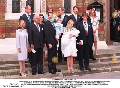 Princess Victoria of Sweden Photo - 150499 (FRONT ROW L-R) MR  MRS ROBERT MILLER CROWN PRINCE PAVLOS WITH WIFE MARIE CHANTAL  BABY KONSTANTINE ALEXIOS PRINCE WILLIAM(BACK ROW L-R) PRINCE DIMITRI OF YUGOSLAVIA CROWN PRINCESS VICTORIA OF SWEDEN CRWON PRINCE FREDERIK OF DENMARK QUEEN  KING CONSTANTINE OF GREECE PRINCE NIKOLAOS OF GREECE PRINCE FELIPE OF SPAIN AND PRINCESS ALEXANDRA OF FURSTENBURG-PRINCE KONSTANTINE ALEXIOS OF GREECE CHRISTENING AT SAINT SOPHIA CATHEDRALLONDON