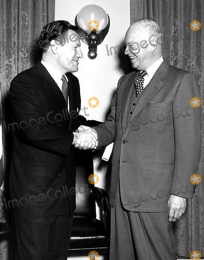 Nelson Rockefeller Photo - Nelson Rockefeller and President Eisenhower After Swearing in Ceremony As Special Assistant to the President 12221954 HeGlobe Photos Ing