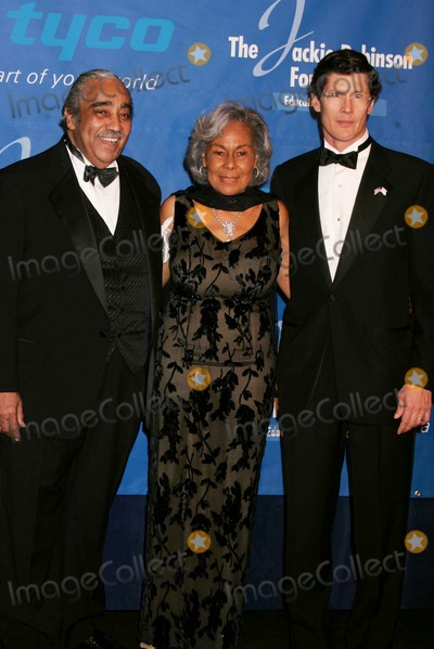 Rachel Robinson Photo - the Jackie Robinson Foundation Honors Charles B Rangel and John a Thain at the Waldorf Astoria Hotel in New York City 03-07-2005 Photo by Rick Mackler-rangefinder-Globe Photosinc Charles Rangel_rachel Robinson_john Thain