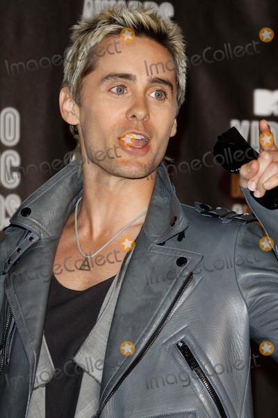 Jared Leto Photo - Musician Jared Leto of 30 Seconds To Mars poses in the press room of the 2010 MTV Video Music Awardsl at Nokia Theatre LA Live in Los Angeles USA on september 12th 2010 Photo Hubert BoeslThe 2010 MTV VIDEO MUSIC AWARDS (Pressroom) held at The Nokia Theatre Los Angeles California 09-12-2010Photo by Alec Michael-Globe Photos Inc 2010K65884AM