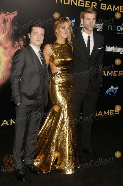 Jennifer Lawrence Photo - Josh Hutcherson Jennifer Lawrence Liam Hemsworth attending the Los Angeles Premiere of the Hunger Games Held at the Nokia Theatre LA Live in Los Angeles California on 31212 Photo by D Long- Globe Photos Inc