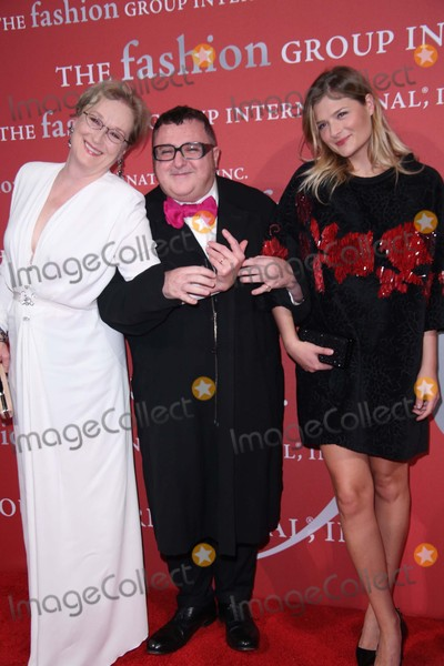 Alber Elbaz Photo - Meryl Streep Alber Elbaz and Louise Gummer Attend the 2015 Fashion Group International Night of Stars the Revolutionaries Cipriani Wall Street NYC October 22 2015 Photos by Sonia Moskowitz Globe Photos Inc